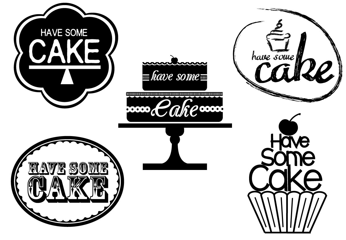 Cake Company Logo Design :  Have Some Cake  Logo Design Rachel Evans